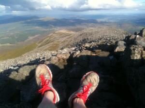 My trainers on top of Schiehallion